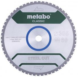 Пильный диск Metabo Steel cut Classic HW/CT 305х2,6/2,2x25,4 Z60 FZFA/FZFA 4 град (628668000)