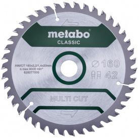 Пильный диск Metabo MultiCutClassic 160x20 42 FZ/TZ 10 град (628277000)