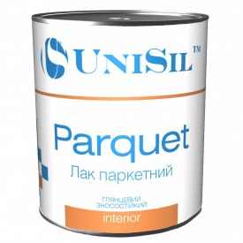 Лак паркетний Unisil Parquet, Unisil,шовковисто-матовий, 0,75л