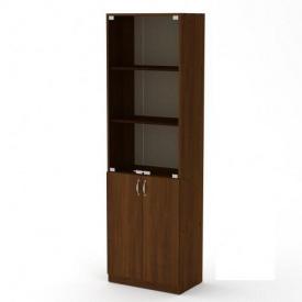 Офисный шкаф КШ-6 Компанит стеклянные дверьки дсп орех