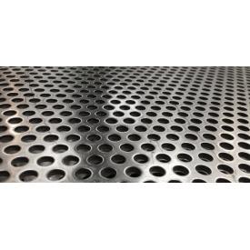 Перфорированный лист нержавеющий АИСИ 304 PA Rv5-8/1/1000x2000 мм