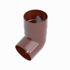 Коліно труби INES 80 мм RAL 3011 червоний