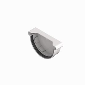 Заглушка ринви INES 120 мм RAL 9010 білий