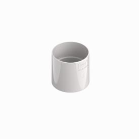 З'єднувач труби INES 80 мм RAL 9010 білий