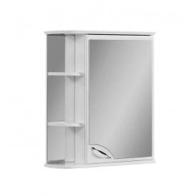 Шафа навісний дзеркальний для ванної кімнати БАЗИС 55 правий Пік