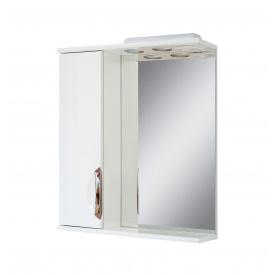 Дзеркало для ванної кімнати АЛЬВЕУС 50 ліве з підсвічуванням ручка врізна Пік