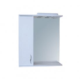 Дзеркало для ванної кімнати БАЗИС 65 ліве з підсвічуванням Пік