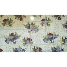 Панели ПВХ Грейс Фиолетовые цветы 0,3 мм 964х484 мм