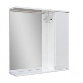 Дзеркало для ванної кімнати СІМПЛ 60 праве з LED підсвічуванням Пік