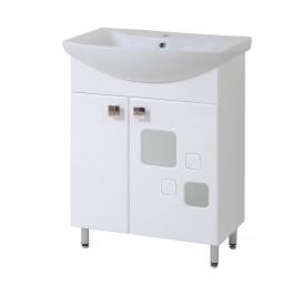 Тумба КВАДРО 65 для ванної кімнати c умивальником ОМЕГА 65