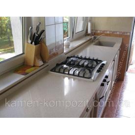 Стільниця для кухні c нижньої мийкою зі штучного литого каменю за індивідуальними розмірами