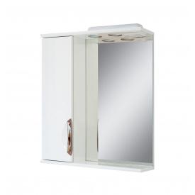 Дзеркало для ванної кімнати АЛЬВЕУС 55 ліве з підсвічуванням ручка врізна Пік