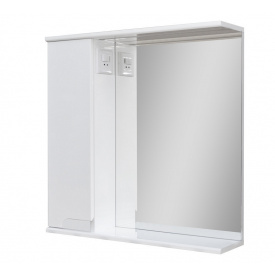 Дзеркало для ванної кімнати СІМПЛ 70 ліве з LED підсвічуванням Пік