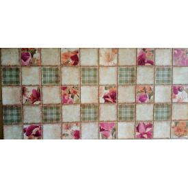 Панели ПВХ Грейс Ирисы в каминные 0,3 мм 964х484 мм