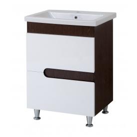Тумба для ванної кімнати СІМПЛ 60 венге c умивальником КОМО 60