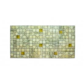 Панели ПВХ Грейс Мрамор с золотом 0,3 мм 955х480 мм
