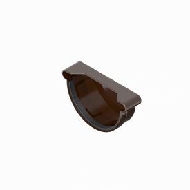 Заглушка ринви INES 120 мм RAL 8017 коричневий