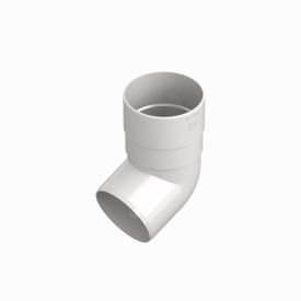 Коліно труби INES 80 мм Колір RAL 9010 білий