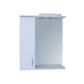 Дзеркало для ванної кімнати БАЗИС 55 ліве з підсвічуванням Пік