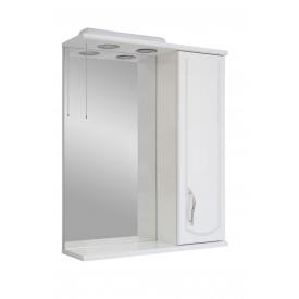 Дзеркало для ванної кімнати БАЗИС 65 праве декор з підсвічуванням Пік