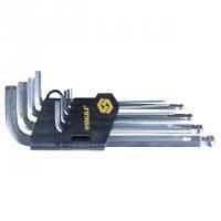 Ключи шестигранные 9 шт 1.5-10 мм CrV короткие шар SIGMA (4022111)