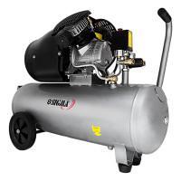 Компресор двоциліндровий 2,5 кВт 455 л/хв 10 бар 50 л (2 крана) SIGMA (7043721)