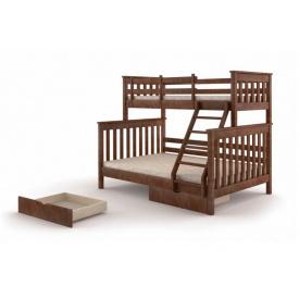 Семейная кровать деревянная двухъярусная Скандинавия 1400x2000