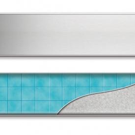 Душевой канал 650 мм с полированной решеткой Классик и Под плитку нержавеющая полированная