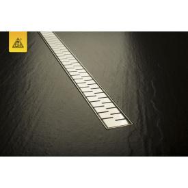 Душевой канал 750 мм с матовой решеткой Медиум нержавеющая сталь горизонтальный фланец кромка