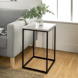 Приставной журнальный кофейный столик GoodsMetall в стиле Лофт 600х400х400 ЖС 132