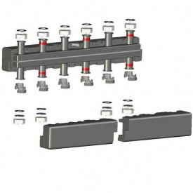 Распределительный коллектор на 5 контура отопления стандартный из черной стали