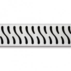Душевой канал 850 мм с полированной решеткой Гармония полированная нержавеющая сталь горизонтальный