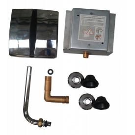 Кран з фотоелементом для пісуара AC 220 V / DC 6 V (4x1.5 AA) вбудований монтаж хром