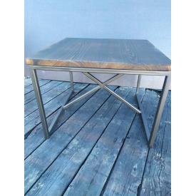 Журнальный столик GoodsMetall в стиле Лофт 600х600х450 ЖС40