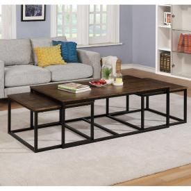 Комплект Журнальных кофейных столиков GoodsMetall в стиле Лофт 1400х750х500 ЖС160