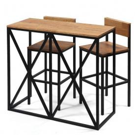 Барний комплект (стіл та стільці) GoodsMetall в стилі Лофт 1200х1100х500 Мюнхен