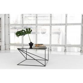Журнальний кавовий столик GoodsMetall металевий в стилі Лофт 400х700х700 ЖС1185