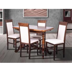 Кухонний комплект Дует стіл розсувний та 4 стільця горіх темний