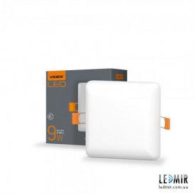 Світлодіодний безрамковий світильник Videx Квадрат 9W-4100K