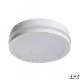 Светодиодный светильник Kanlux BENO Круг накладной 18W-4000К белый с датчиком движения