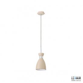Потолочный подвесной светильник Kanlux RETRO HANGING LAMP BG, бежевый, хром