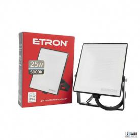 Светодиодный прожектор ETRON 1-ESP-204 25W-5000К черный