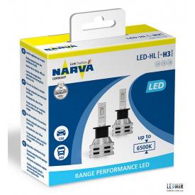 Светодиодная автолампа NARVA H 3 12/24 V 19 W PK 22 S комплект (2 шт)