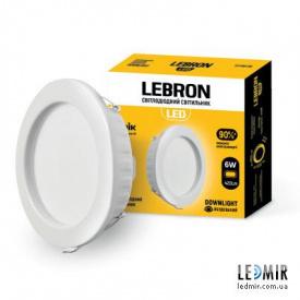 Светодиодный светильник Lebron Даунлайт Круг 6W-4100K
