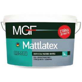Краска латексная MGF Mattlatex M 100 белая 14 кг