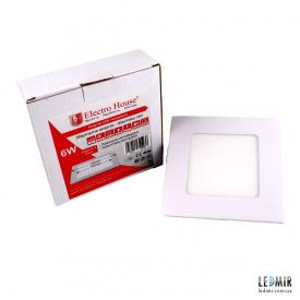 Світлодіодна панель ElectroHouse 6W-4100К квадратна