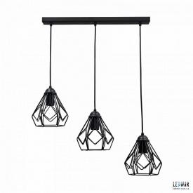 Потолочный подвесной светильник NL 538-3 GRID черный