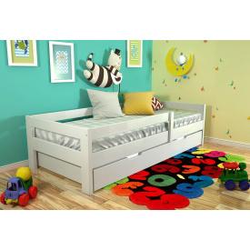 Дитяче ліжко з натурального дерева сосни Альф 80х190 Нове Білий