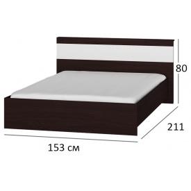 Ліжко 140х200 Сфера 1400 Венге + білий
