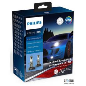 Светодиодная автолампа Philips H4 LED 12V 22W 5800K P43T комплект (2шт)